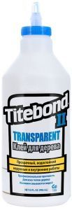 Клей для дерева TITEBOND II Transparent Premium Wood Glue 946мл